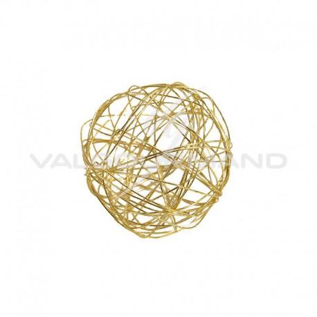 Boules en fil métal OR 4CM - 12 pièces