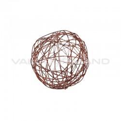 Boules en fil métal CHOCOLAT 4CM - 12 pièces