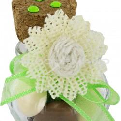 Bouquet de 6 fleurs en jute IVOIRE - le bouquet