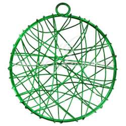 Disques en fil métal 6CM VERT - 6 pièces