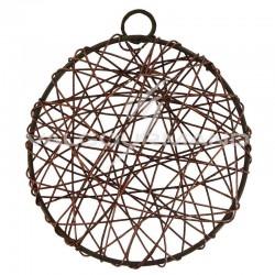 Disque en fil métal 6CM BRUN - 6 pièces (soit 0.57€ pièce !) en stock