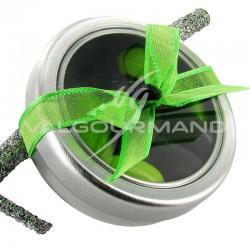 Boîte ronde métal, couvercle transparent - 2 pièces (soit 0.84€ pièce !) en stock