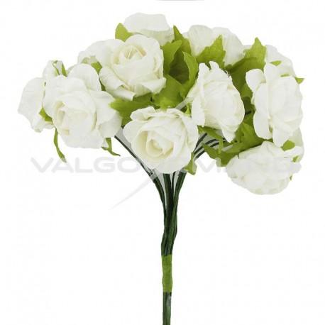 Bouquet de 12 roses BLANC - le bouquet