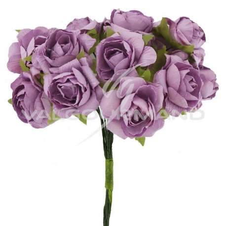 Bouquet de 12 roses LILAS - le bouquet