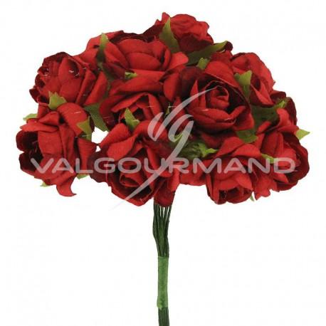 Bouquet de 12 roses ROUGE - le bouquet