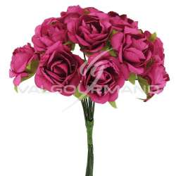 Bouquet de 12 roses FUCHSIA - le bouquet en stock