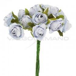 Bouquet de 12 roses BLEU CIEL - le bouquet en stock