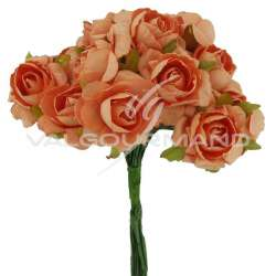 Bouquet de 12 roses PECHE - le bouquet en stock