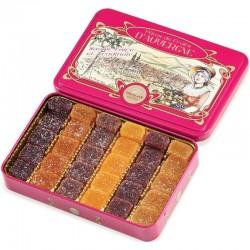 Pâtes de fruits d'Auverge assortis - boîte métal 330g en stock