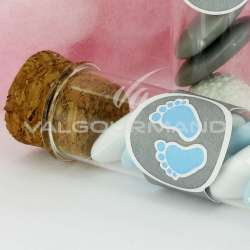 Etiquette (déco éprouvette) Peton BLEU - 4 pièces en stock