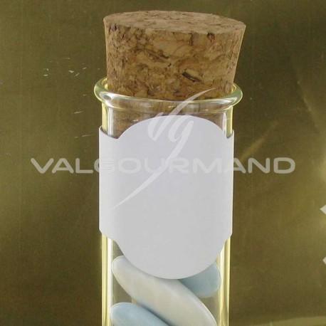 Etiquettes (déco éprouvette) BLANC - 4 pièces