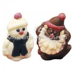 Pères Noël et bonhommes de neige 17g - 30 pièces en stock