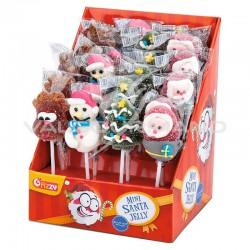 Mini sucettes santa jelly - 24 sucettes
