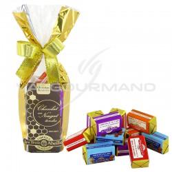 Nougats de Montélimar assortis au chocolat - sachet de 150g en stock
