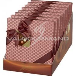 Ballotins décorés Terracotta choc assorti 250g - présentoir de 8 en stock