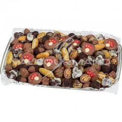 Fruits de la forêt en chocolat - plateau de 2,500kg en stock