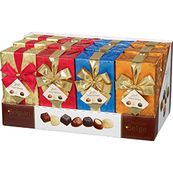 Ballotins décorés Brillant de choc assorti 250g - présentoir de 12 en stock