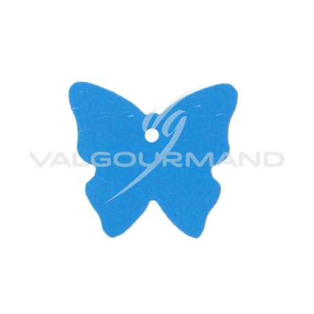 Etiquettes papillon TURQUOISE - 4 vignettes