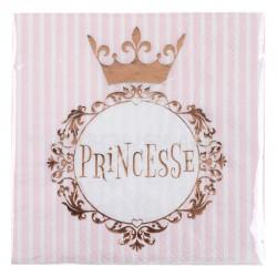 Serviettes Princesse ROSE GOLD - 20 pièces en stock