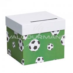 Urne / Tirelire football VERT - pièce en stock