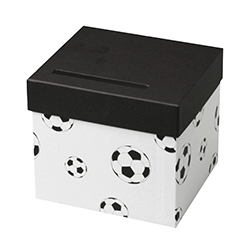 Urne / Tirelire football BLANC - pièce en stock