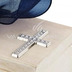 Croix ARGENT à coller - 10 pièces en stock