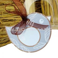 Etiquette perforée Moineau - 4 vignettes en stock