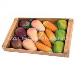 Cagette du marché légumes en pâte d'amandes - 155g en stock