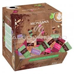 "Pauses-café ""collection pralinés"" assortis Monbana - boîte de 200 en stock"