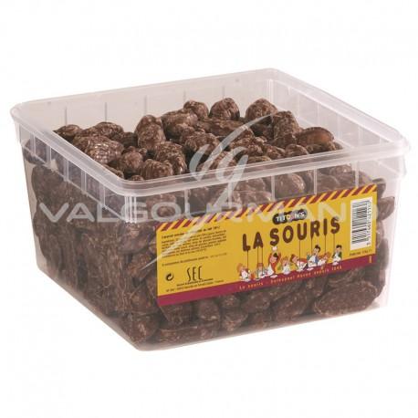 Souris caramel enrobée chocolat - 220 pièces