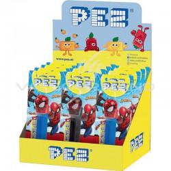 ~Pez Figurine Spiderman + recharge - le lot de 12