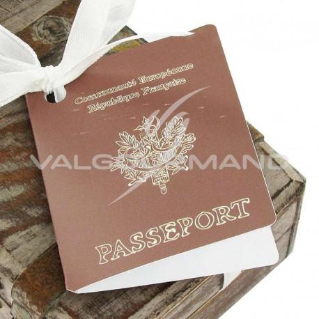 Etiquettes perforées Passeport - 2 vignettes