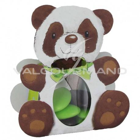 Ballotins Panda et ruban 7mm chocolat OFFERT - 25 pièces