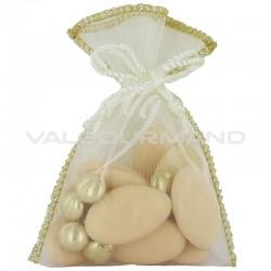 Pochon bord doré IVOIRE - 6 pièces (soit 0.38€ pièce !) en stock