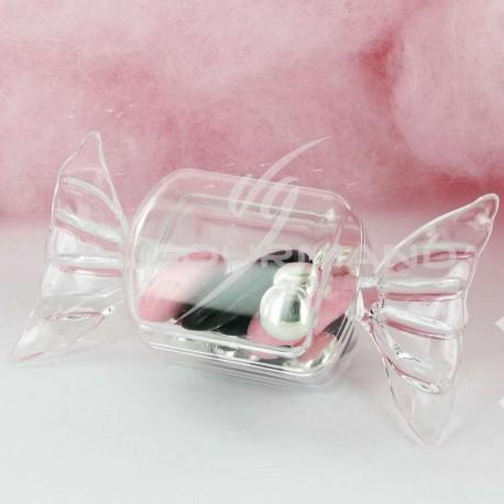 Boîtes forme bonbon en plexiglass - 25 pièces