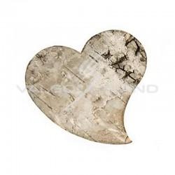 Coeur en écorce de bois naturel - 10 pièces en stock