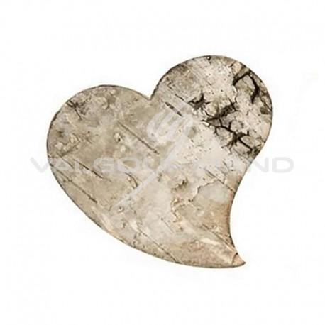 Coeurs en écorce de bois naturel - 10 pièces