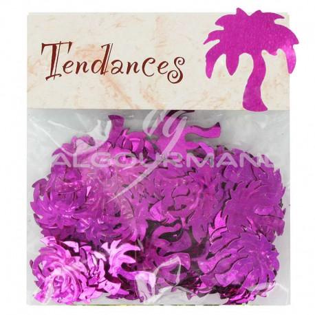 Confettis de table Palmier FUCHSIA - sachet de 10g