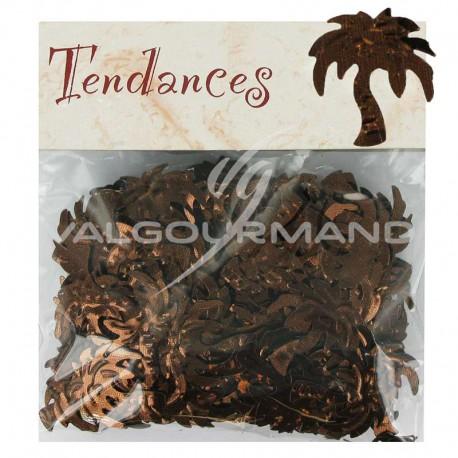 Confettis de table Palmier CHOCOLAT - sachet de 10g
