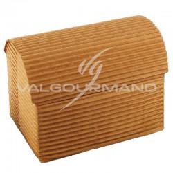 Coffre GM carton ondulé NATUREL - pièce en stock