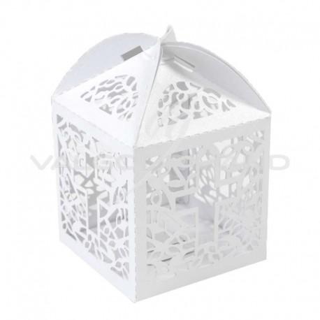 Boîtes dentelle Communion BLANC - 10 pièces