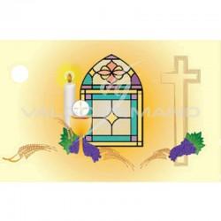 Etiquette vitrail Communion - 10 pièces en stock