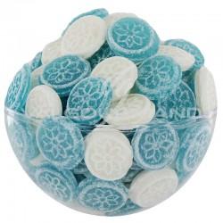 Pastille menthe (blanc et bleu) Origine France- sachet de 2kg (soit 7.40€ le kg !) en stock