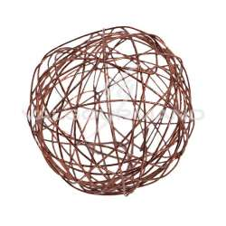 Boule en fil métal CHOCOLAT 6CM - 6 pièces en stock