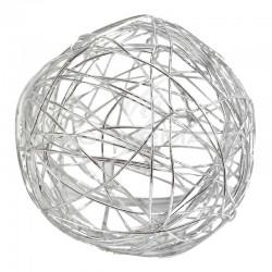 Boules en fil métal ARGENT 9CM - 4 pièces