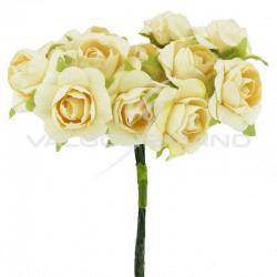 Bouquet de 12 roses IVOIRE - le bouquet