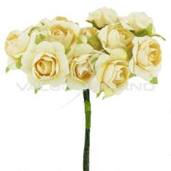 Bouquet de 12 roses IVOIRE - le bouquet en stock