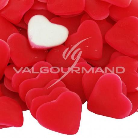 Coeurs rouges gélifiés lisses - 1kg