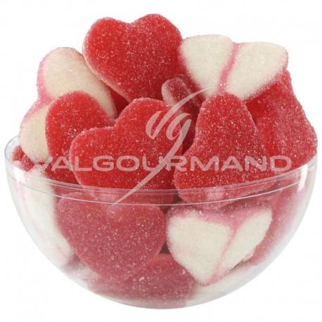 Coeurs rouges et blancs sucrés - 1kg
