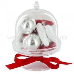 Coupelles sur pied et cloches en plexiglass - 6 pièces (soit 0.45€ pièce !) en stock